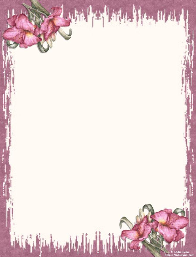 papier à lettre fleurs à imprimer gratuitement