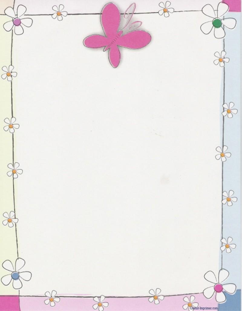 Photo Papier à Lettre Fleurs à Imprimer Gratuitement