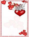 papier à lettre à imprimer amour