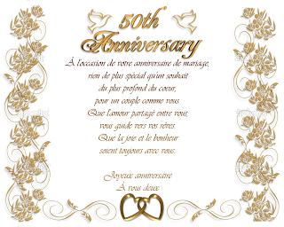 Modèle et exemple de lettres type : Mail  organisation des 50 ans de mariage