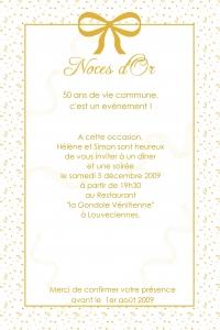 papier lettre 50 ans de mariage - Texte Invitation 50 Ans De Mariage Noces D Or