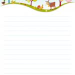 papier à lettre lignée