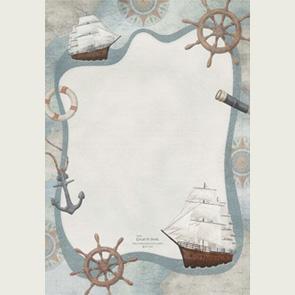 papier à lettre bateau