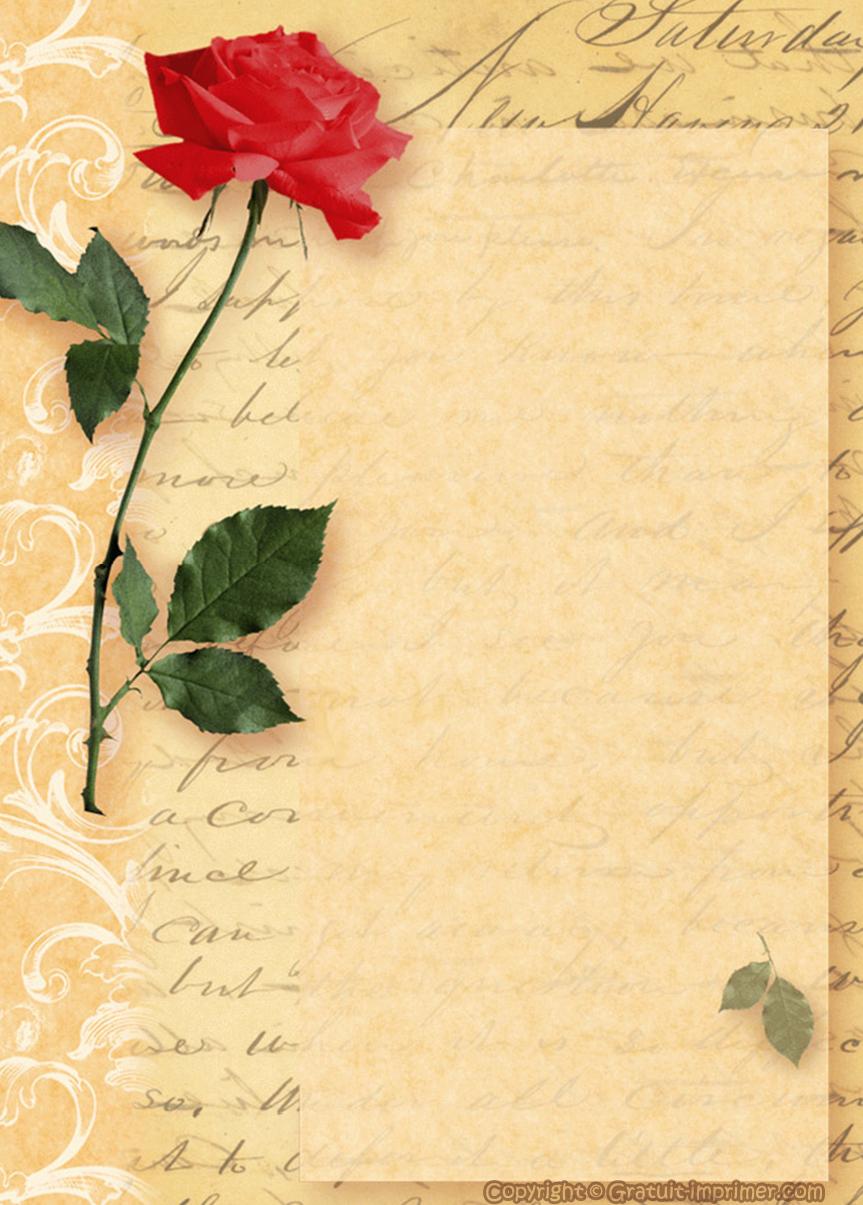 papier à lettre avec motif gratuit
