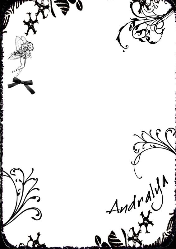 papier à lettre fée