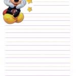 papier à lettre mickey à imprimer