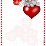papier à lettre st valentin gratuit