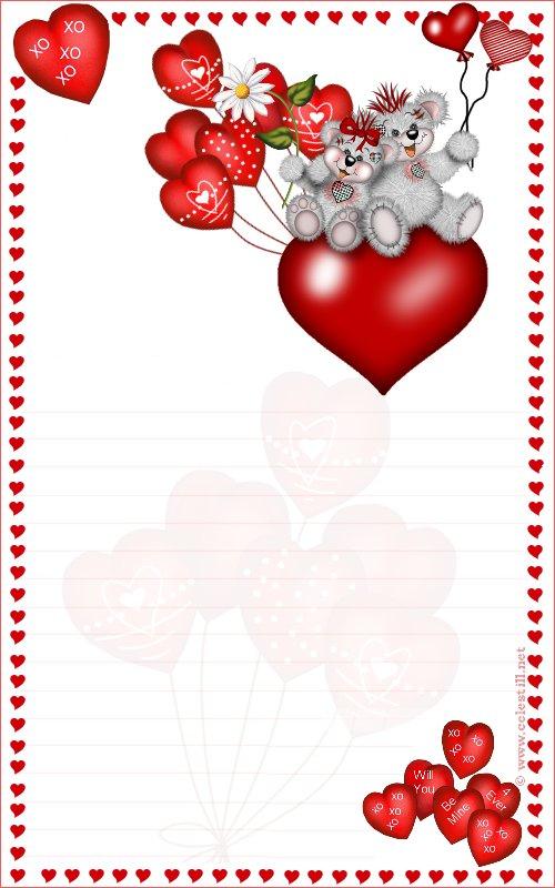 photo papier  u00e0 lettre st valentin gratuit