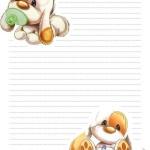 papier à lettre bébé gratuit