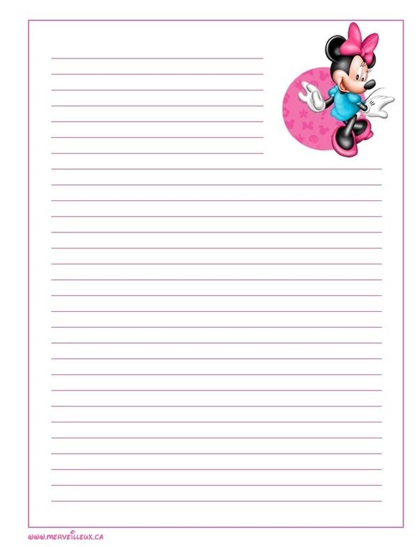 Gabarit papier lettre disney a imprimer - Lettre disney ...