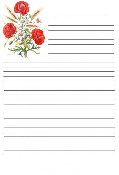 papier à lettre imprimer gratuit