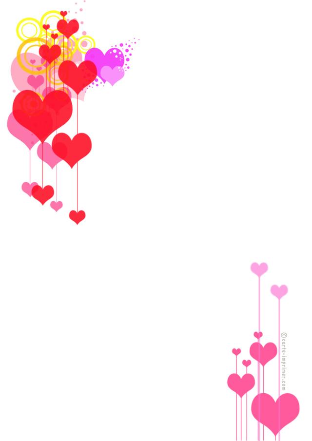Beau papier lettre st valentin imprimer - Image st valentin a telecharger gratuitement ...