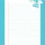 papier à lettre bleu