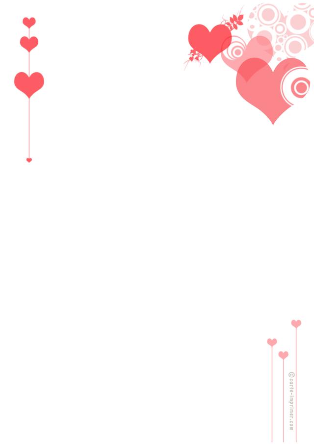 papier à lettre d'amour a imprimer