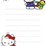 papier à lettre hello kitty à imprimer gratuitement