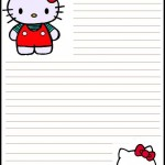 papier à lettre hello kitty