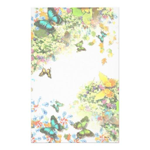 papier à lettre jardin
