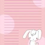 papier à lettre kawaii