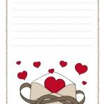 papier à lettre st valentin