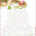 papier à lettre temps des fêtes