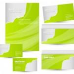 papier à lettre verte dl