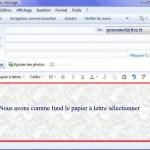 papier à lettre windows live mail 2011