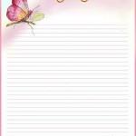 papier à lettre barbie