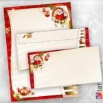 papier à lettre et enveloppe assortie