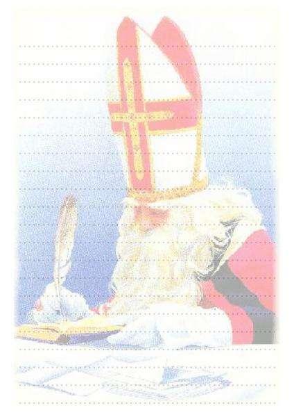 papier à lettre saint-nicolas imprimer
