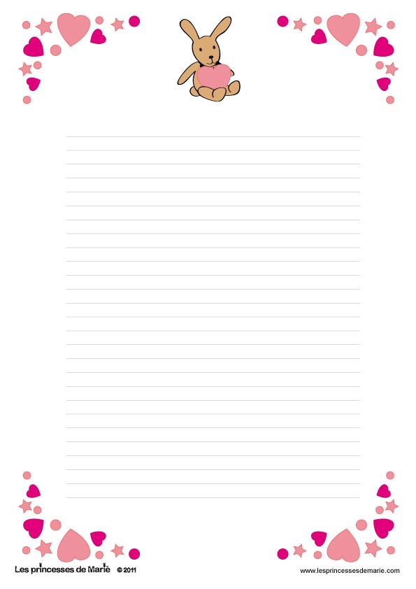Papier lettre a telecharger - Image st valentin a telecharger gratuitement ...