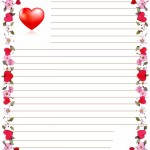 papier à lettre coeur à imprimer gratuitement