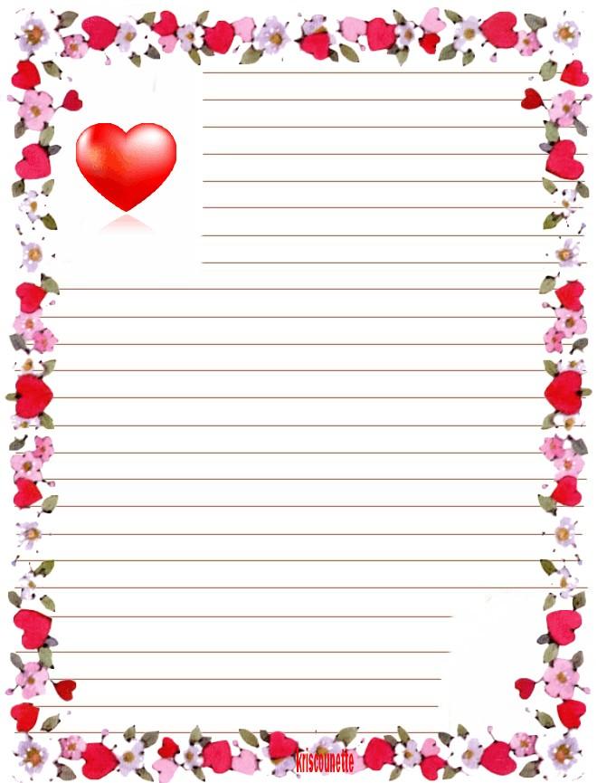Inspiration papier lettre coeur imprimer gratuitement - Coeur a imprimer gratuitement ...