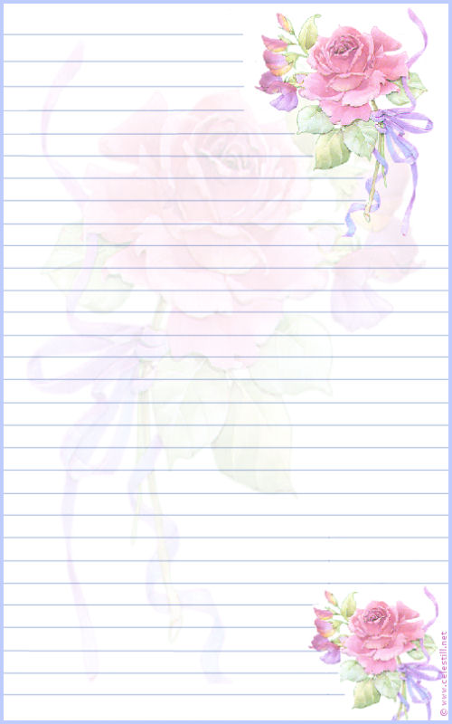 joli papier  u00e0 lettre rose