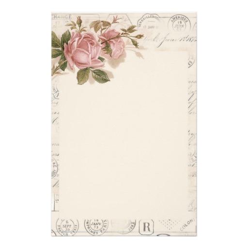 exemple papier  u00e0 lettre vintage