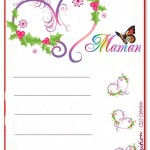 papier à lettre fête des mères