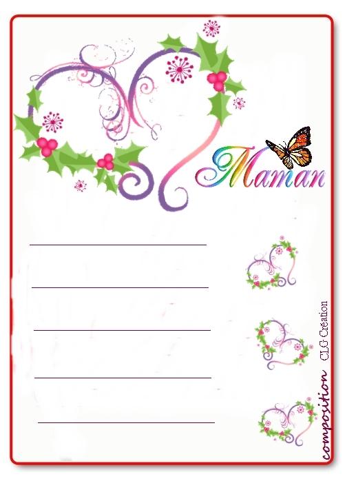 photo papier à lettre fête des mères