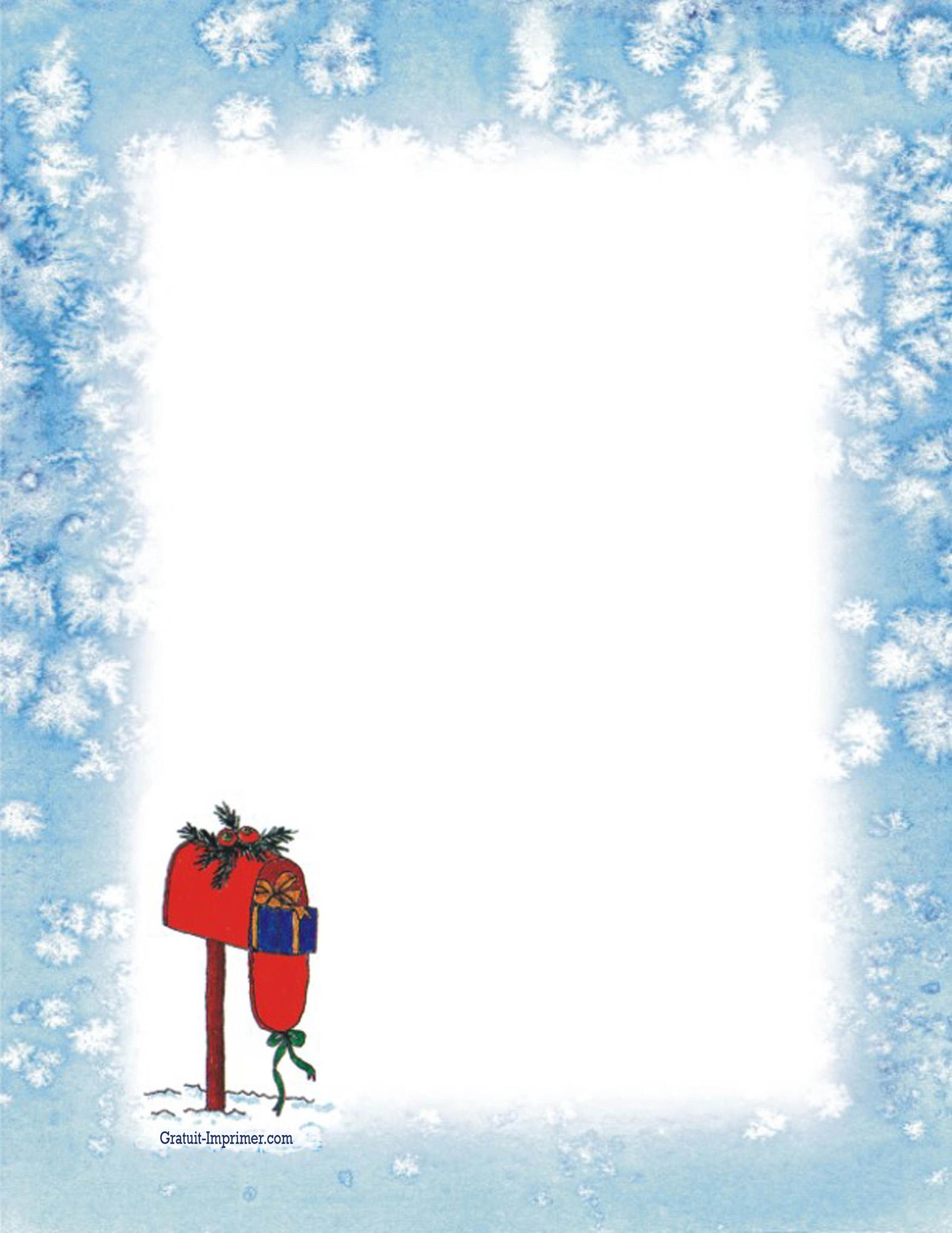 Papier à Lettre Noel Pour Mail