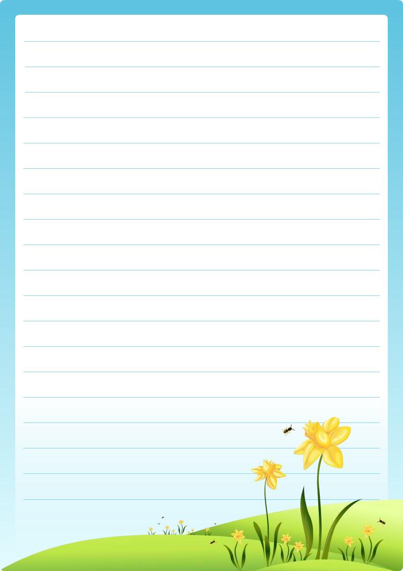 Joli Papier A Lettre à Imprimer