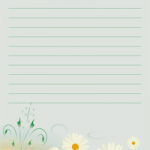 papier à lettre à imprimer avec lignes