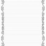 papier à lettre à imprimer simple