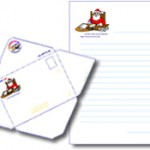 papier à lettre et enveloppe