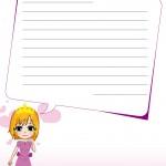 papier à lettre invitation