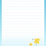 papier à lettre à imprimer gratuitement avec ligne