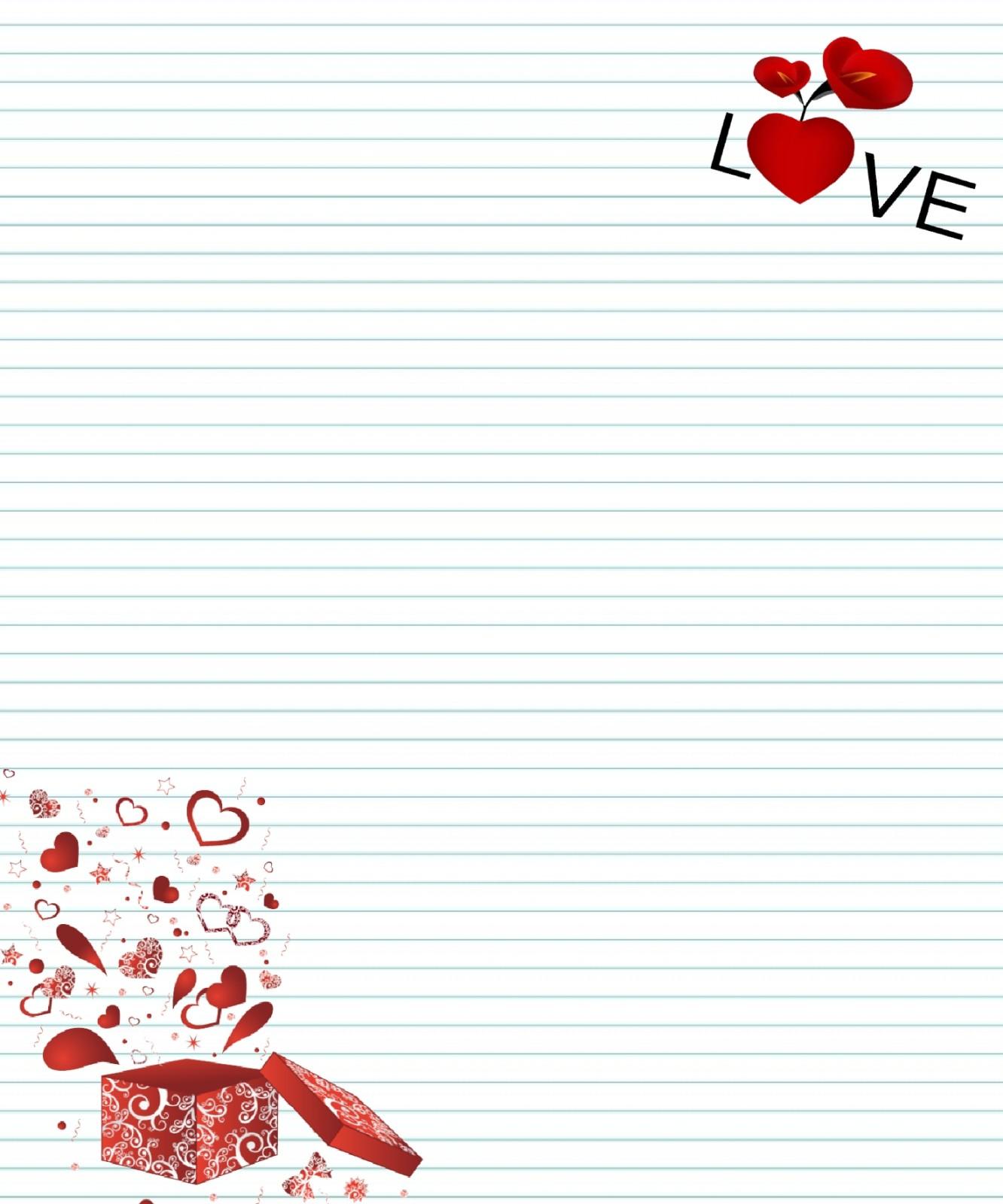 Papier lettre d 39 amour - Lettre saint valentin pour son cheri ...