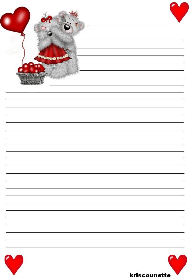 idée papier à lettre d'amour