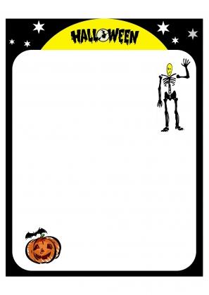 papier à lettre halloween imprimer