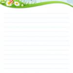 papier à lettre à imprimer avec ligne