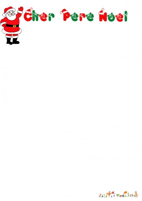 Exemple De Lettre Pour Le Pere Noel.Exemple Papier A Lettre A Imprimer Pere Noel