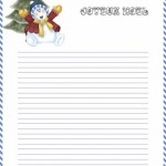 papier à lettre au père noel