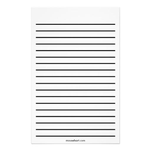 papier à lettre lignes